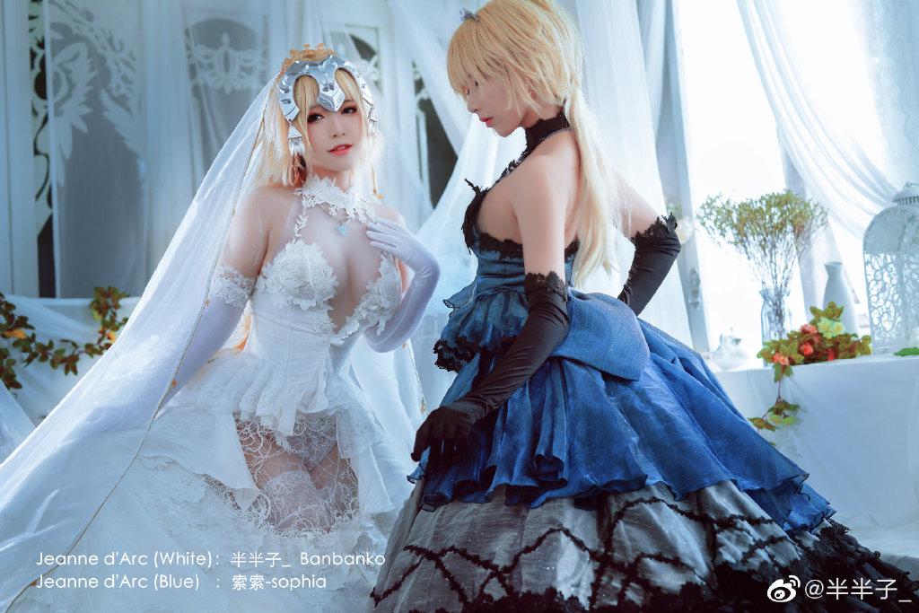 好吧,她们都自己结婚了!@半半子_ 和索索-sophia的结婚照!-觅爱图