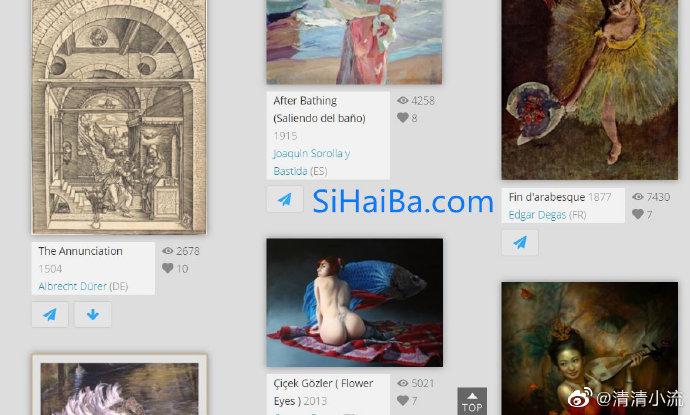 """""""USEUM""""免费下载著名艺术作品的高清扫描大图 福利吧 第1张"""